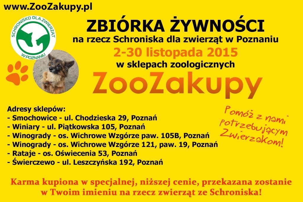 Zbiórka w sklepach ZooZakupy